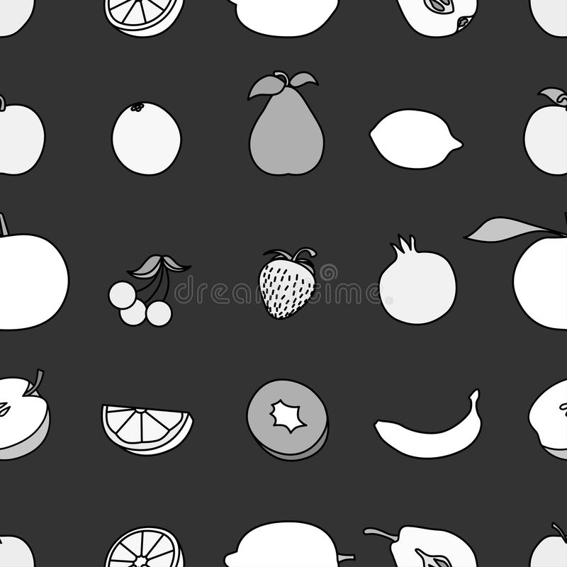 set vektor för fruktsymbolsillustration stock illustrationer