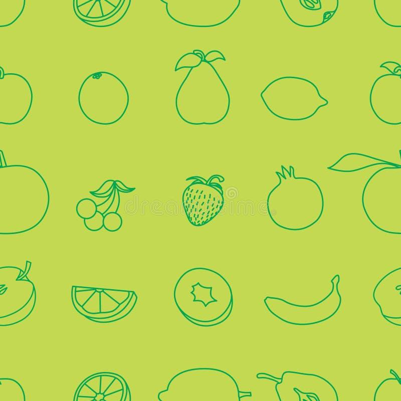 set vektor för fruktsymbolsillustration royaltyfri illustrationer