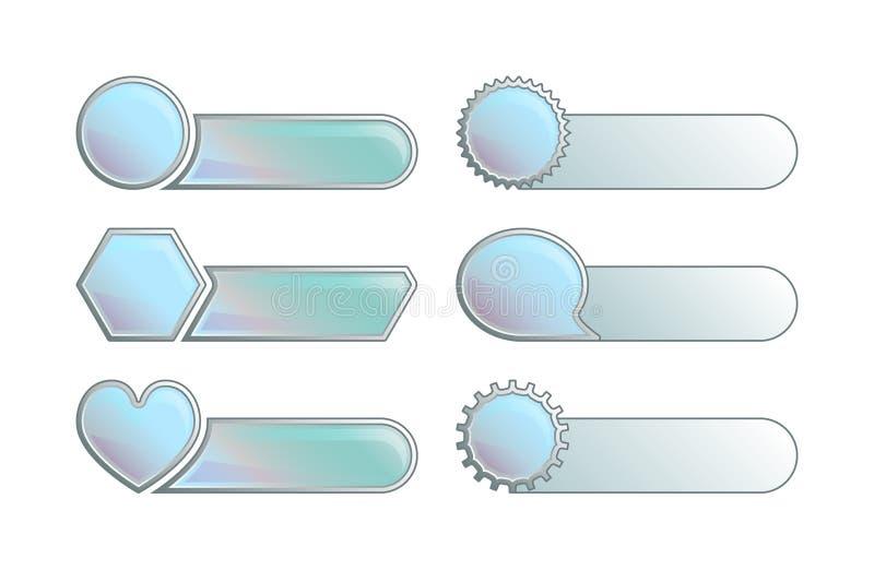 set vektor för knapp stock illustrationer