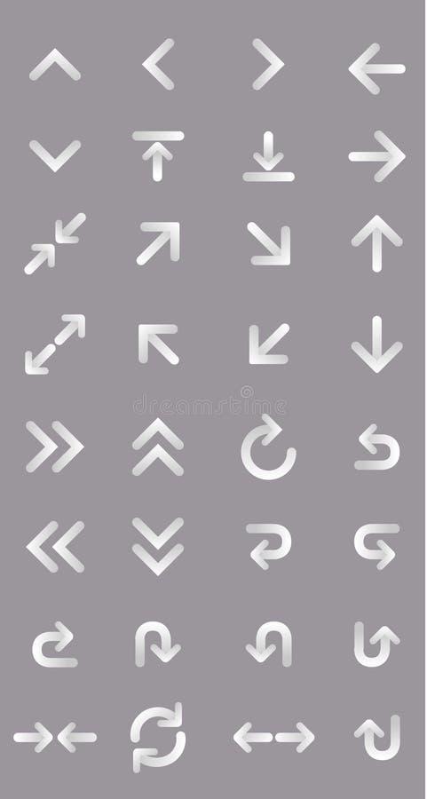 set vektor för pilillustration royaltyfri illustrationer