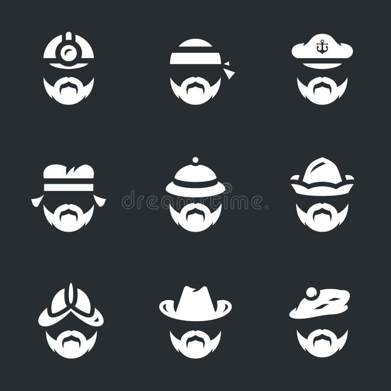 set vektor för symbolsfolk royaltyfri illustrationer