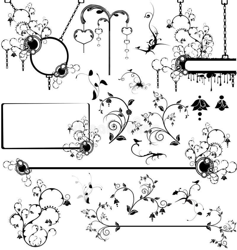 Set verschiedene Auslegungelemente vektor abbildung