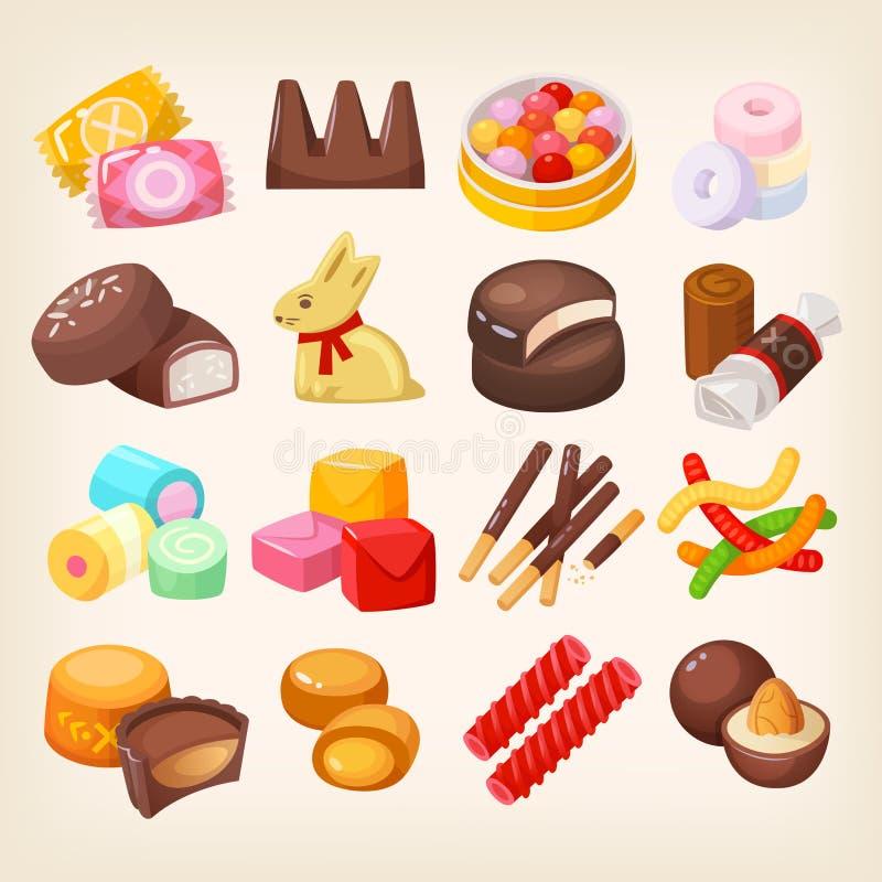 Set verschiedene Bonbons lizenzfreie abbildung