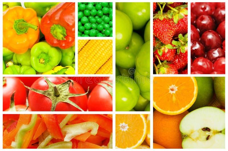 Set verschiedene Obst und Gemüse lizenzfreies stockbild