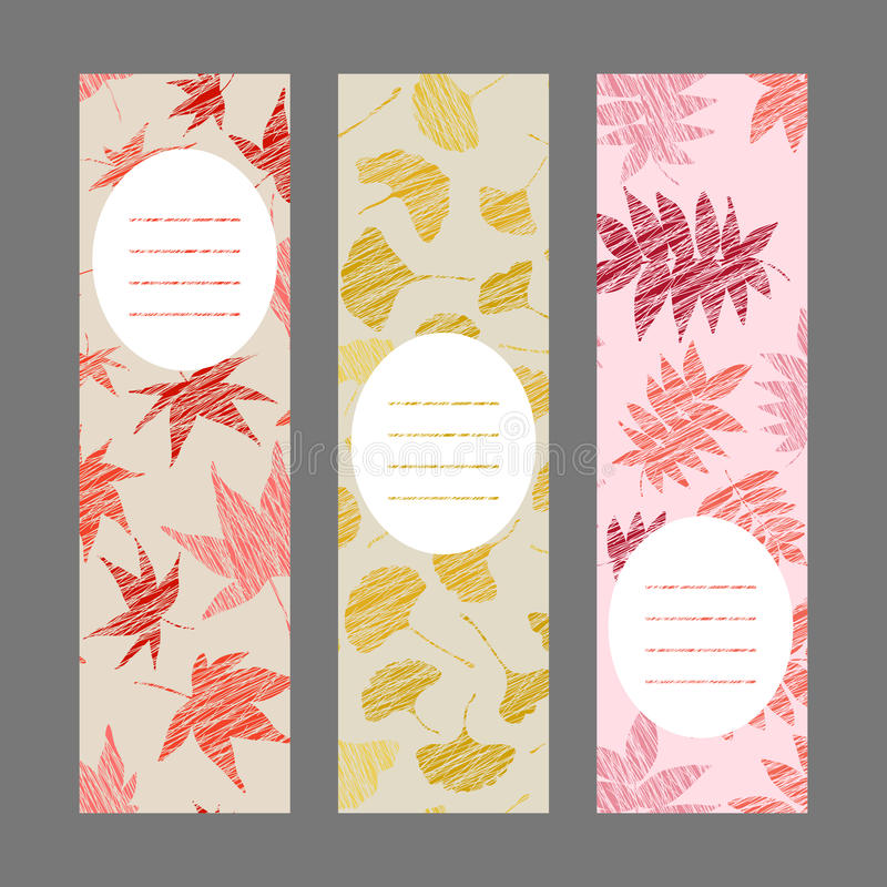 Set of vertical autumn banners. Harvest berry ornament. Vector Illustration. vector illustration