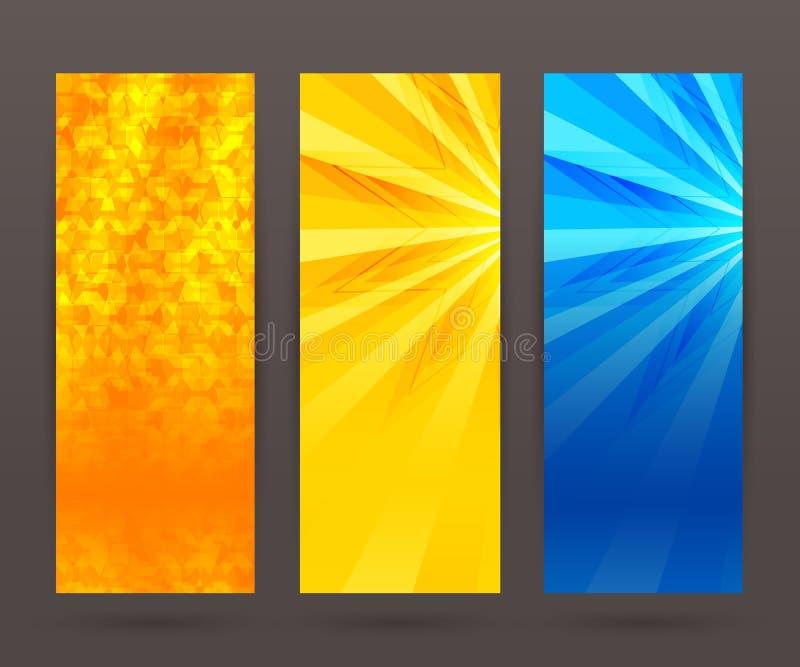 Set vertical banner background template layout flyer43 royalty free illustration