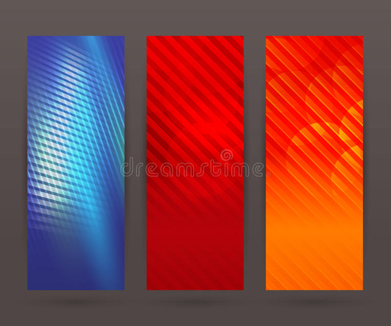 Set vertical banner background template layout flyer48 royalty free illustration