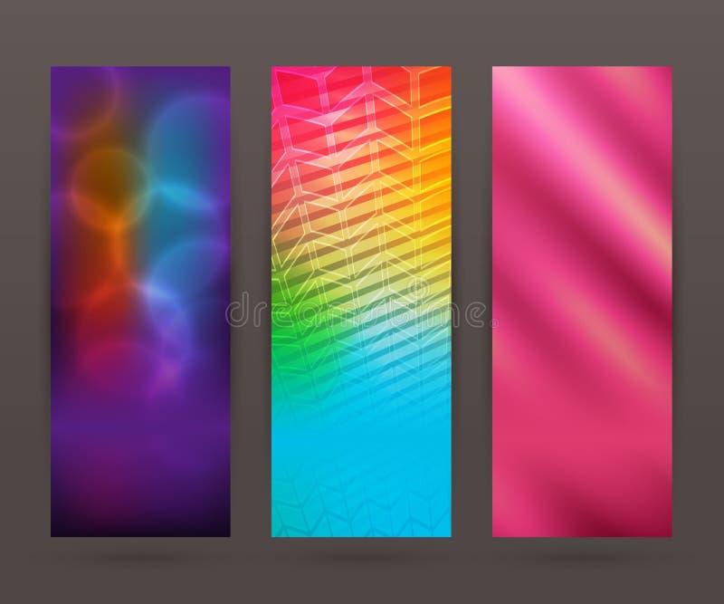Set vertical banner background template layout flyer52 royalty free illustration