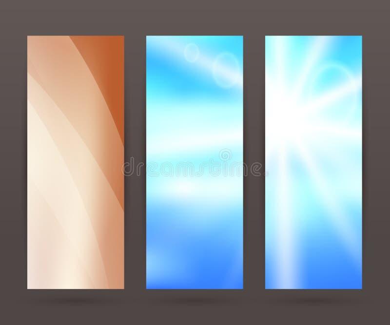 Set vertical banner background template layout flyer65 vector illustration