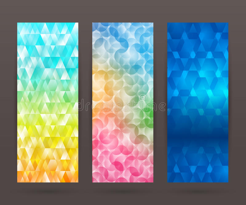 Set vertical banner background template layout flyer70 stock illustration