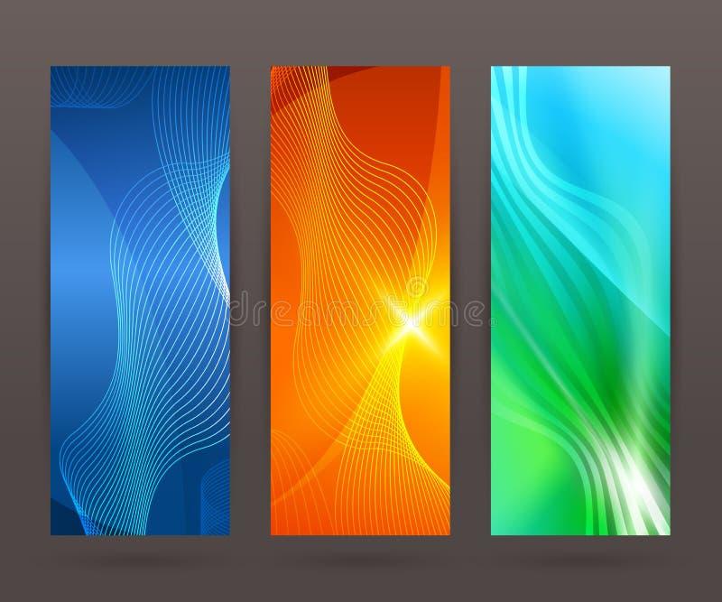 Set vertical banner background template layout flyer84 royalty free illustration