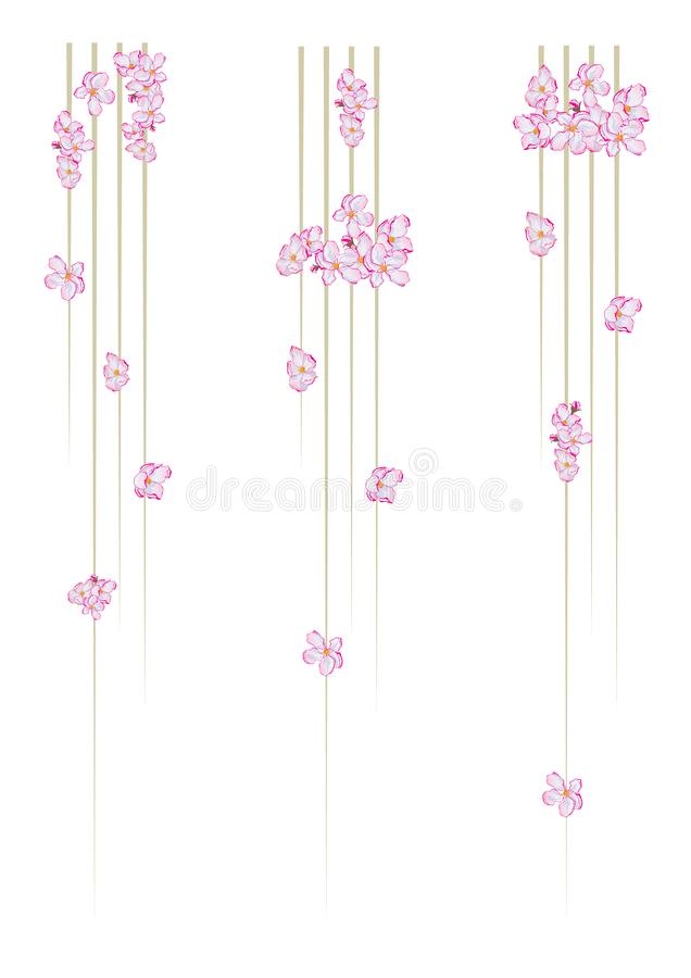 Set of vertical dividers vector illustration