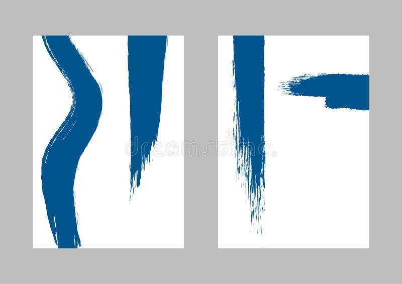 Set of vertical grunge backgrounds. Sketch, watercolor, paint. Creative vector illustration stock illustration