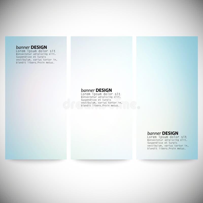 Set vertikale Fahnen Abstraktes mehrfarbiges lizenzfreie abbildung