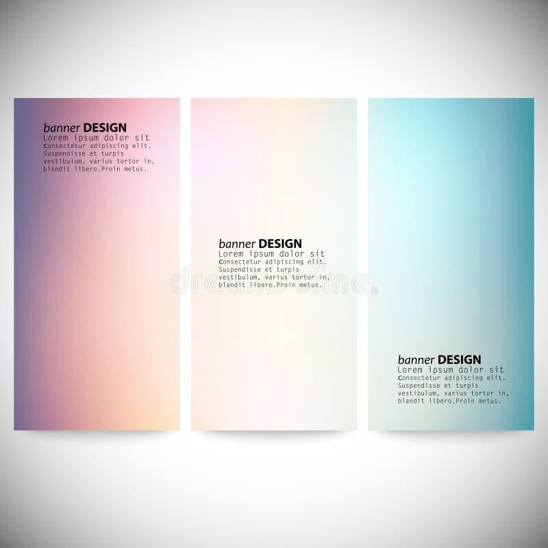 Set vertikale Fahnen Abstraktes mehrfarbiges stock abbildung