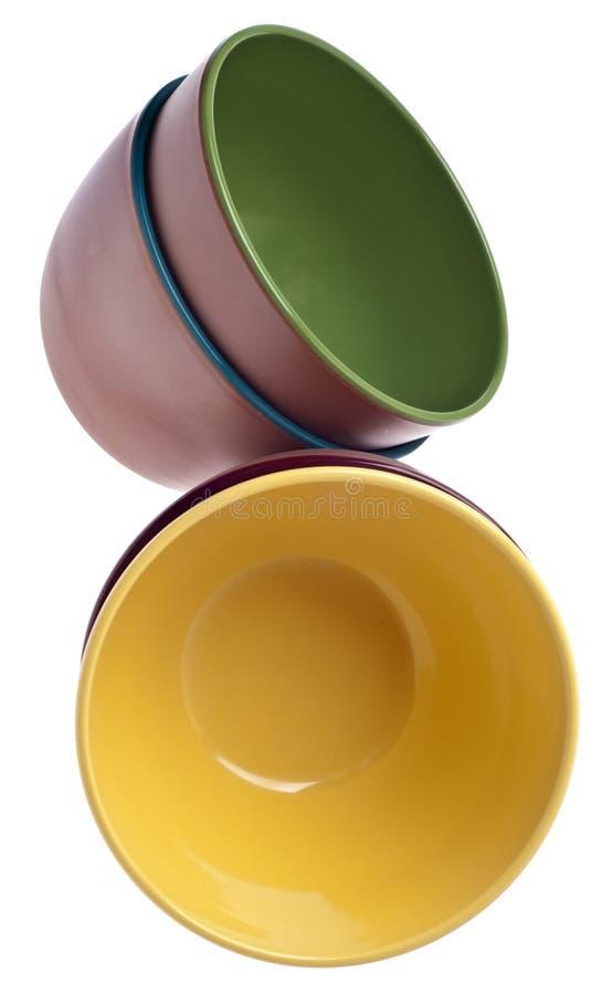Set of Vibrant Plastic Bowls