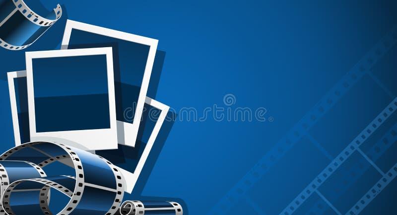 set video för filmfotobild royaltyfri illustrationer