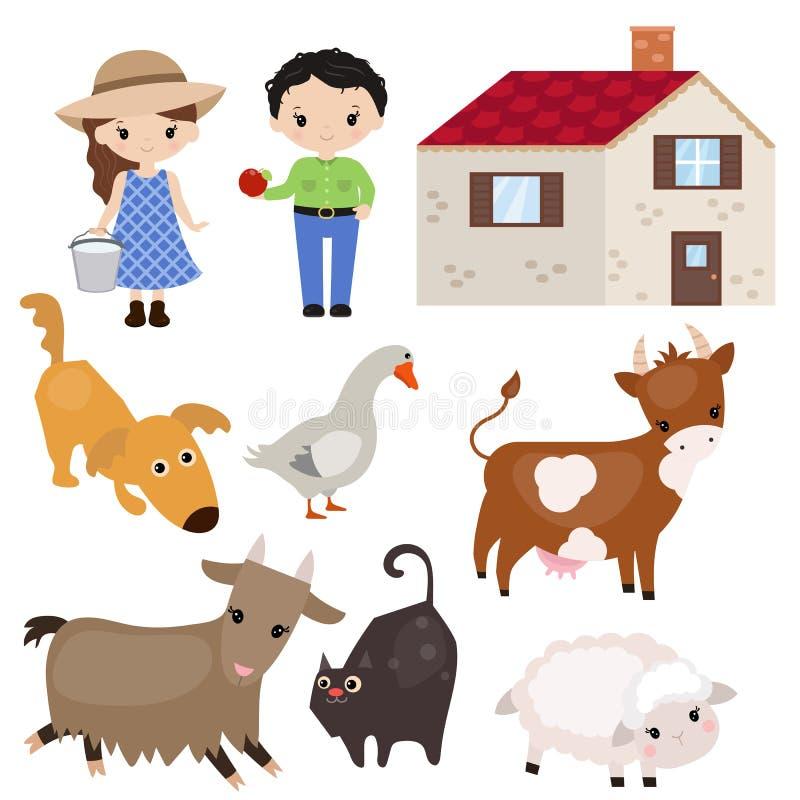 Download Set Vieh vektor abbildung. Illustration von ausbildung - 96926007