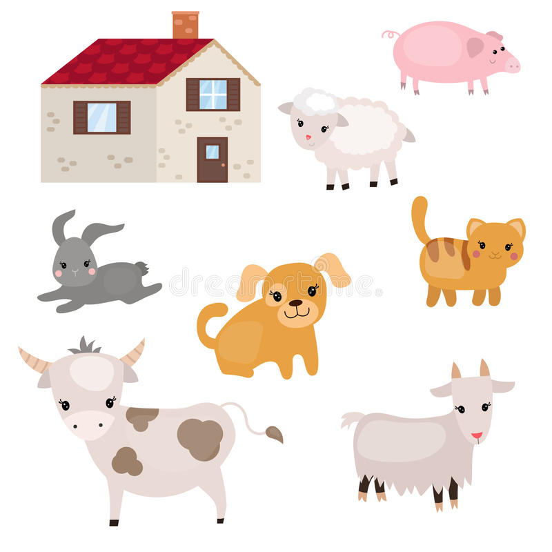 Download Set Vieh vektor abbildung. Illustration von bild, hund - 96926055