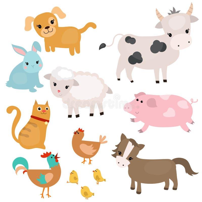 Download Set Vieh vektor abbildung. Illustration von hund, barnyard - 96926066