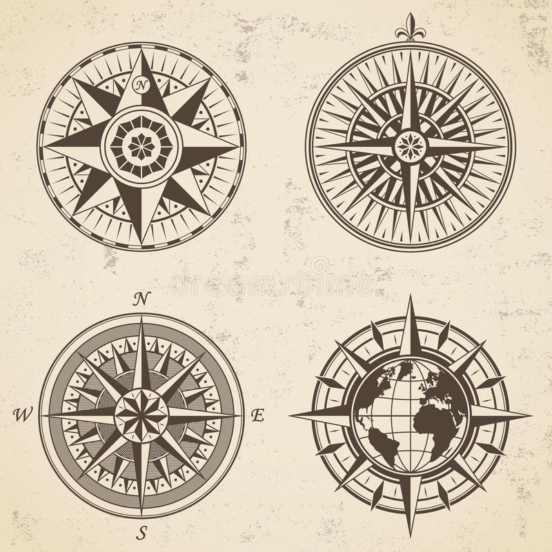 Vintage Nautical Labels Stock Vector. Illustration Of