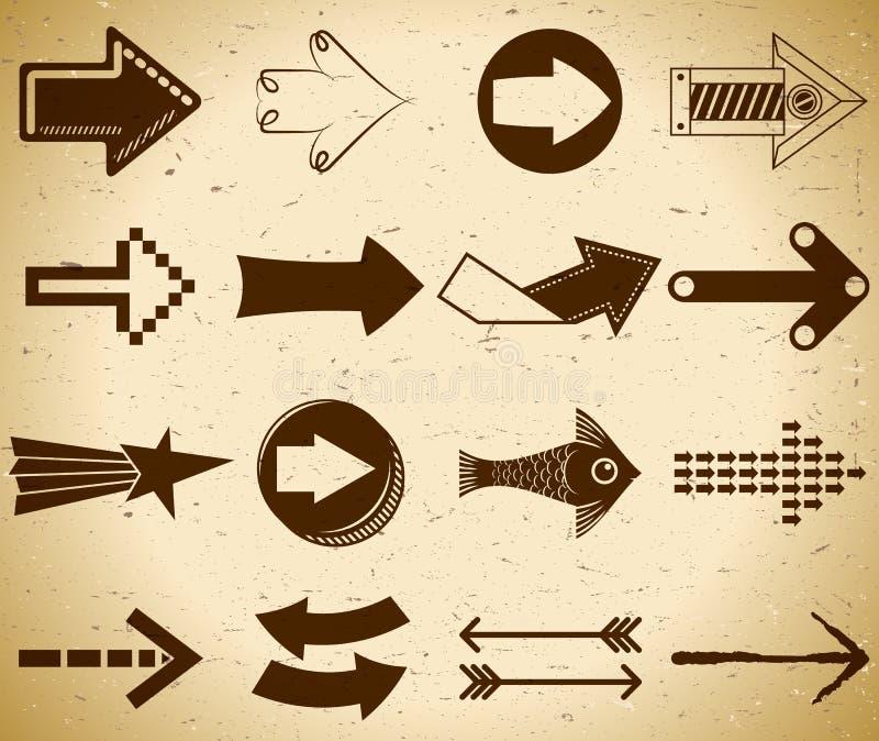 Set of vintage arrows royalty free illustration
