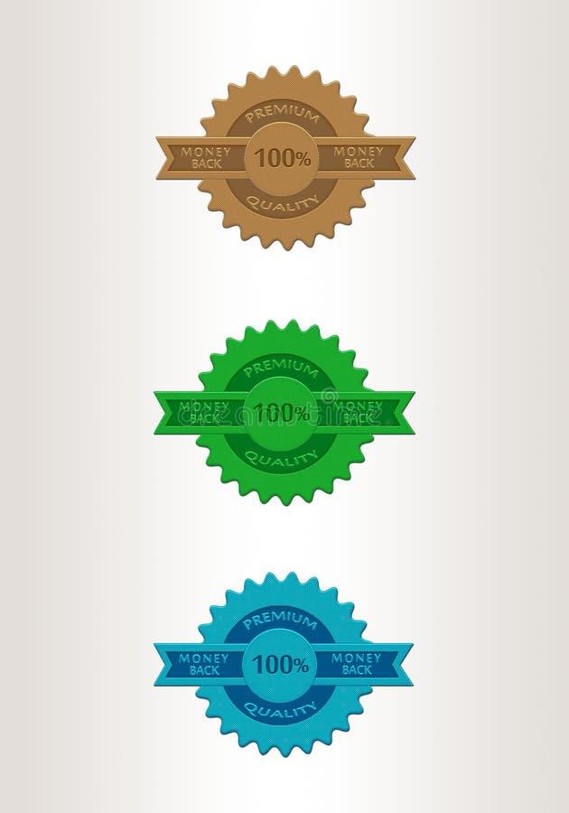 Set of vintage badges and labels. For sale vector illustration