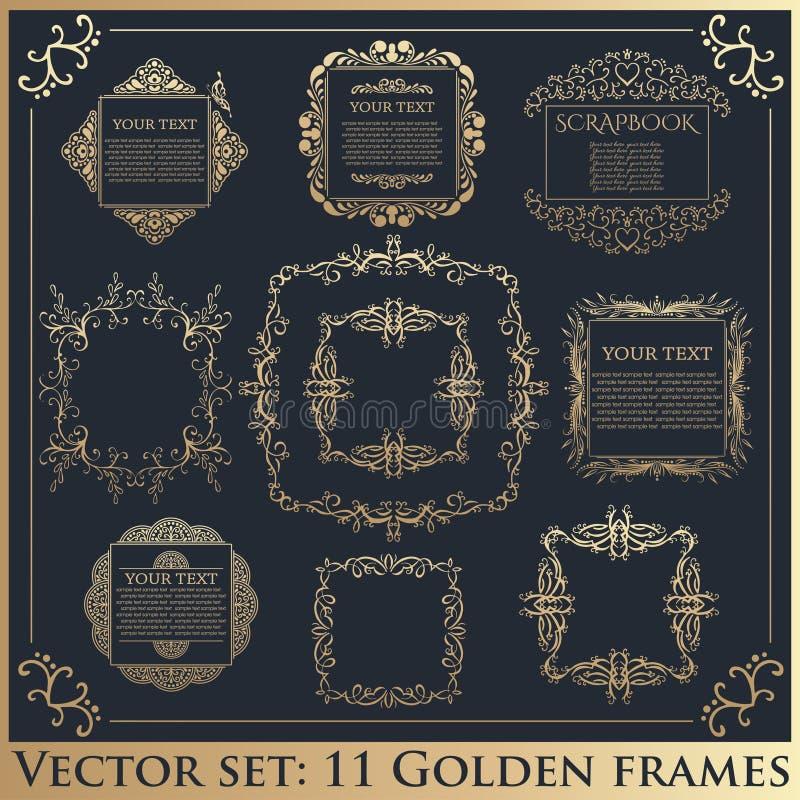 Stylish Vintage Floral Frame,label Set Stock Vector