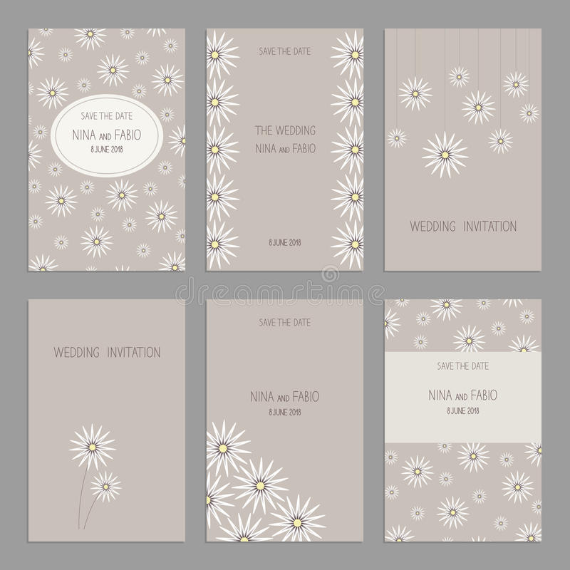 Set of of vintage cards templates editable. royalty free illustration