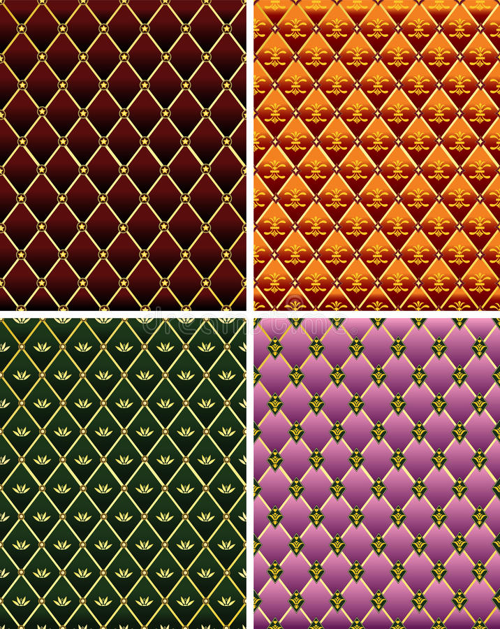 Download Set Of Vintage Colorful  Mosaic Tile Background. Royalty Free Stock Images - Image: 19433099