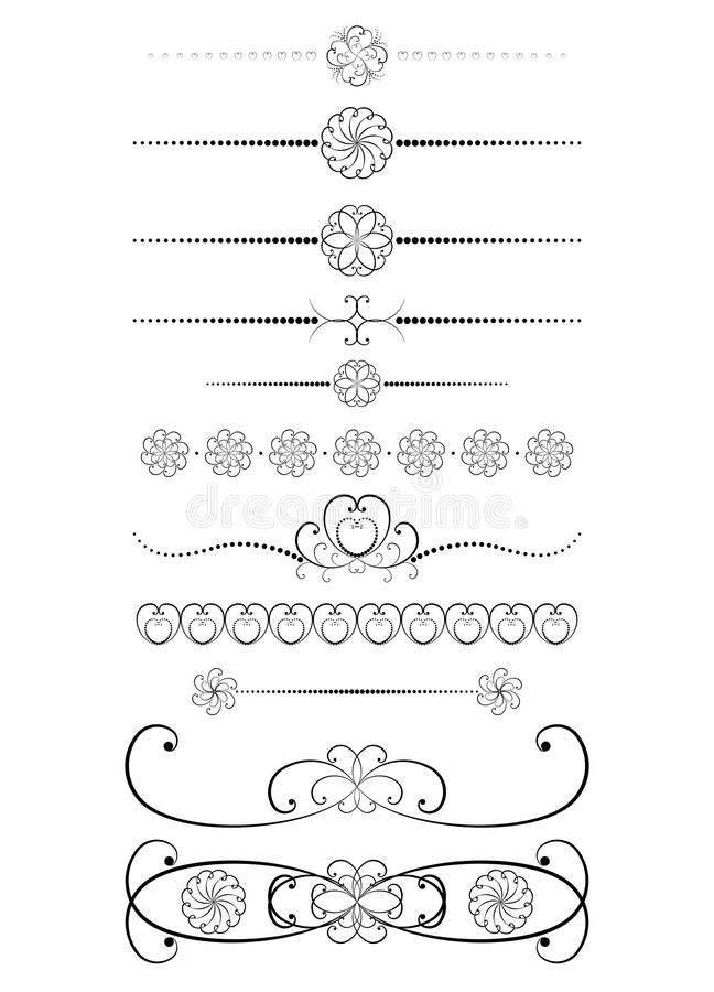 Download Set of vintage dividers stock vector. Illustration of decorative - 26443846