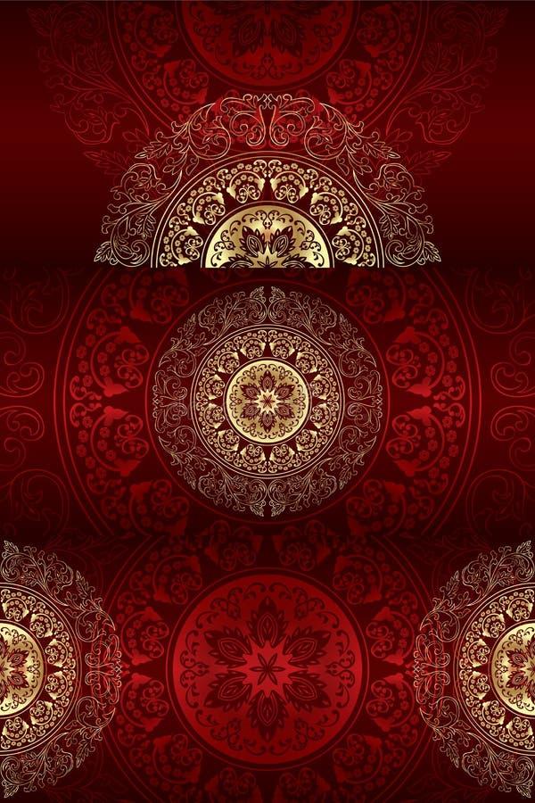 Set of vintage floral backgrounds stock illustration