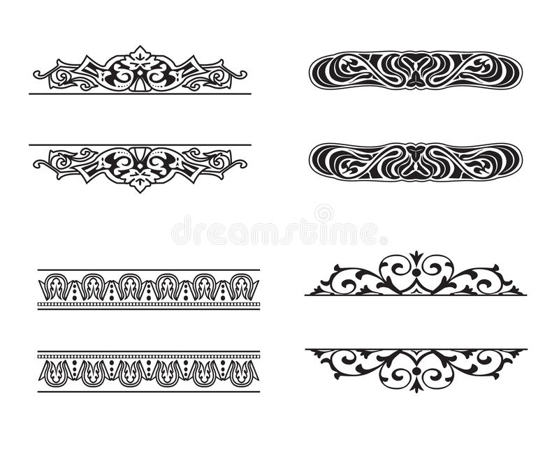 Set of vintage frame. Frames of various styles (classicism, Art Nouveau, Empire, Baroque stock illustration
