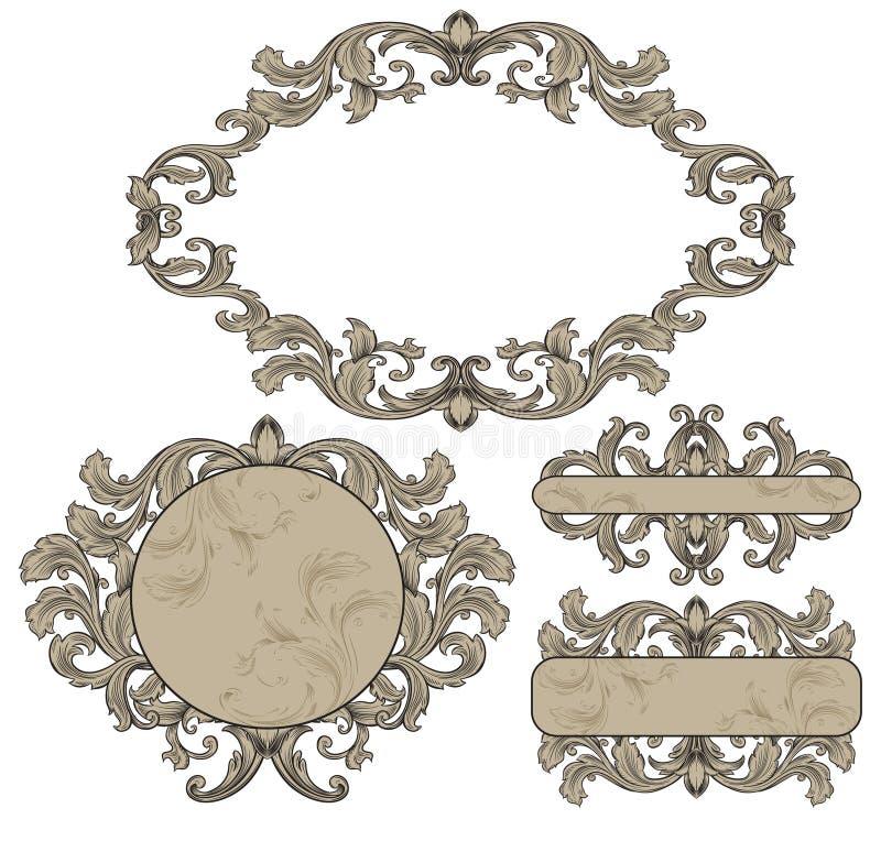 Set vintage frames