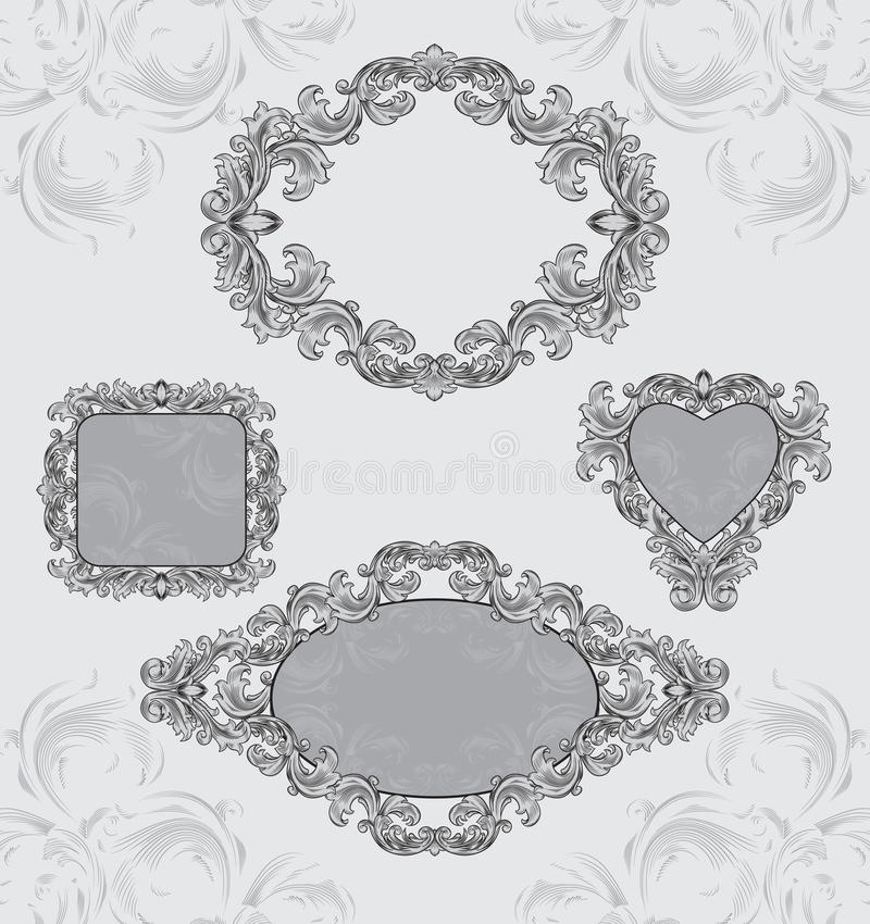 Free Set Vintage Frames Royalty Free Stock Photo - 18532685