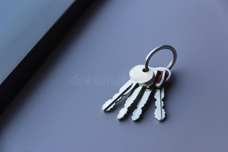 A Set Of Vintage Keys To A Late Model American Automobile stock image