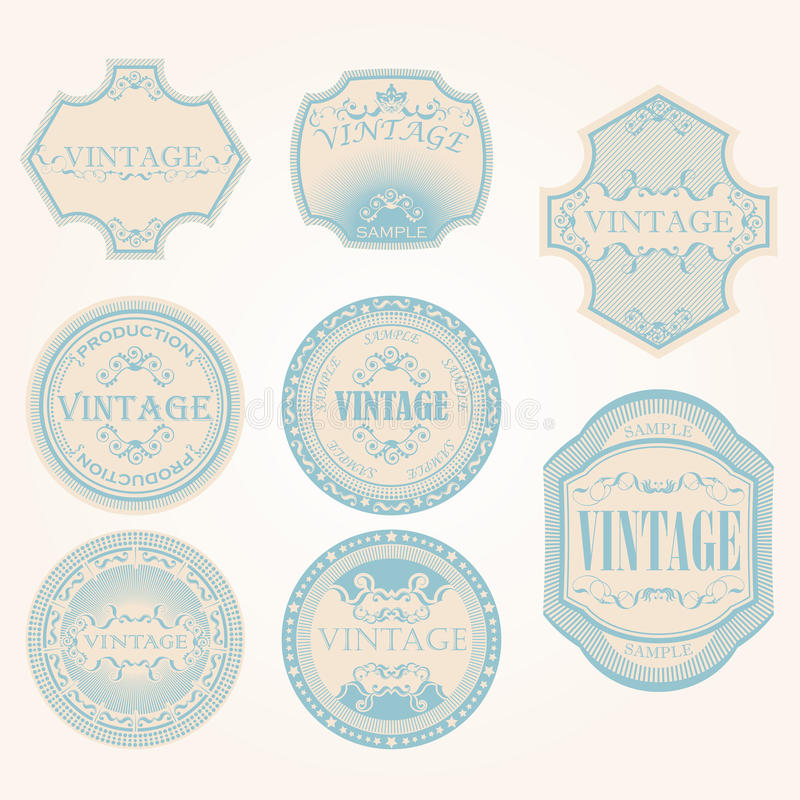Download Set Of Vintage Label Royalty Free Stock Photography - Image: 26731757