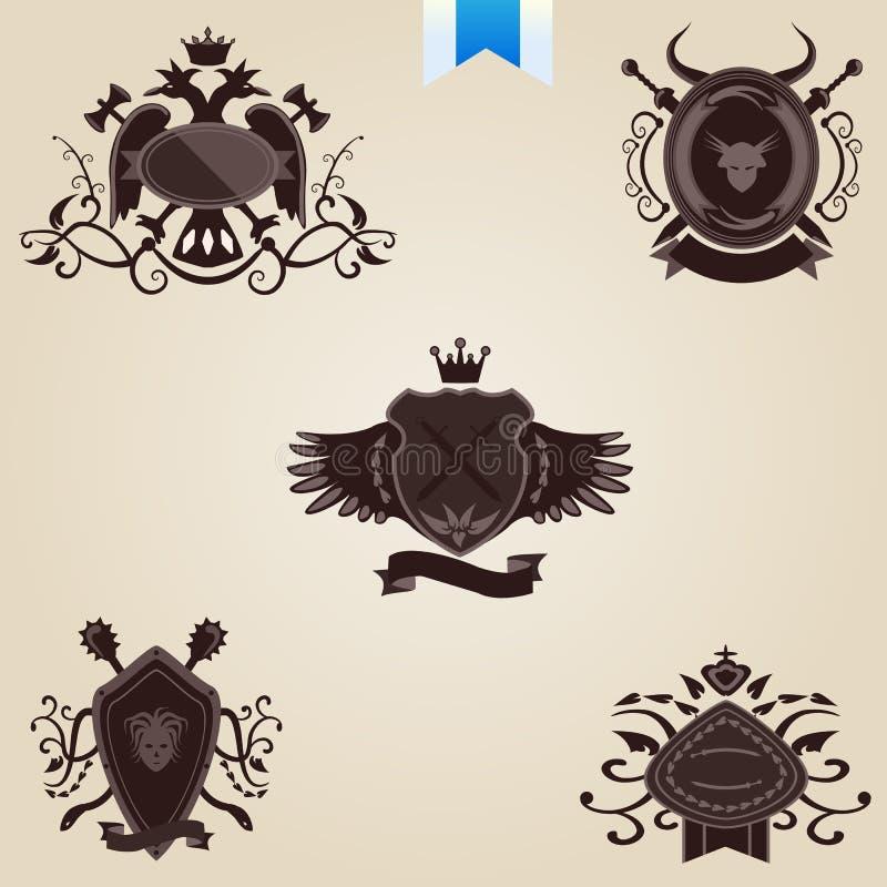 Download Set of vintage labels stock vector. Illustration of heraldic - 22051907