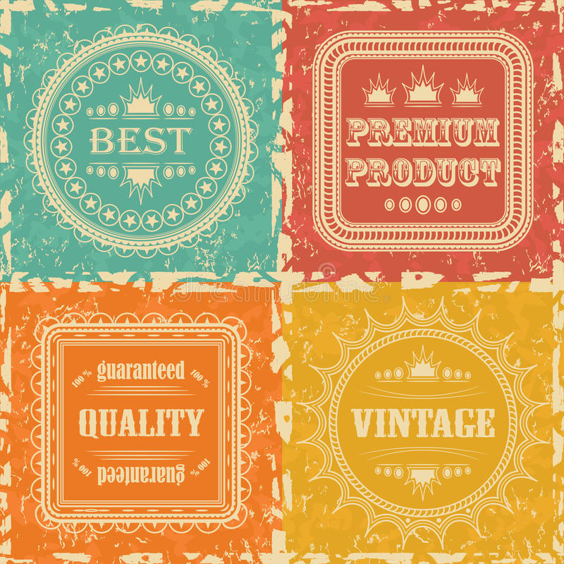 Set Of Vintage Labels Stock Photo