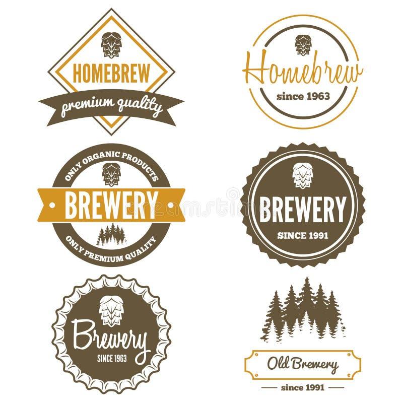 Set of vintage logo, badge, emblem or logotype vector illustration