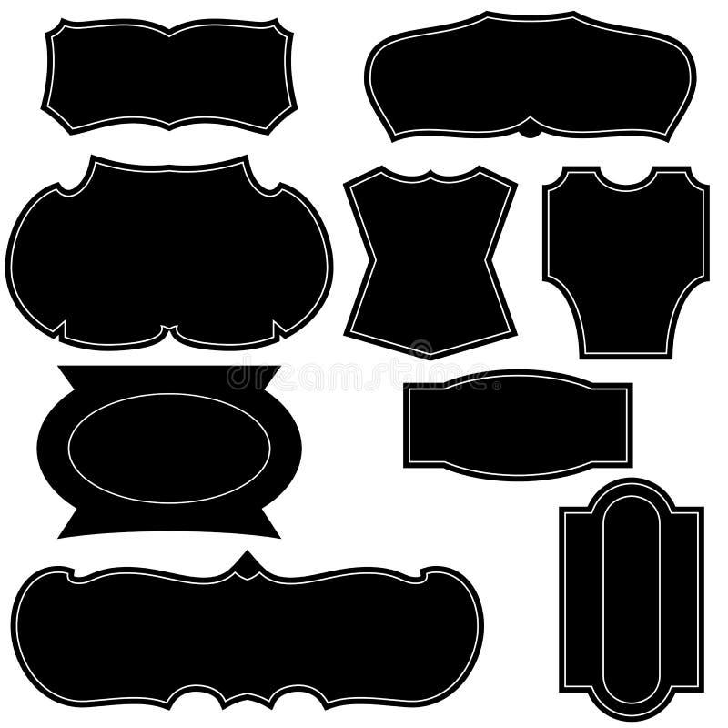set of vintage logo shapes stock vector illustration of