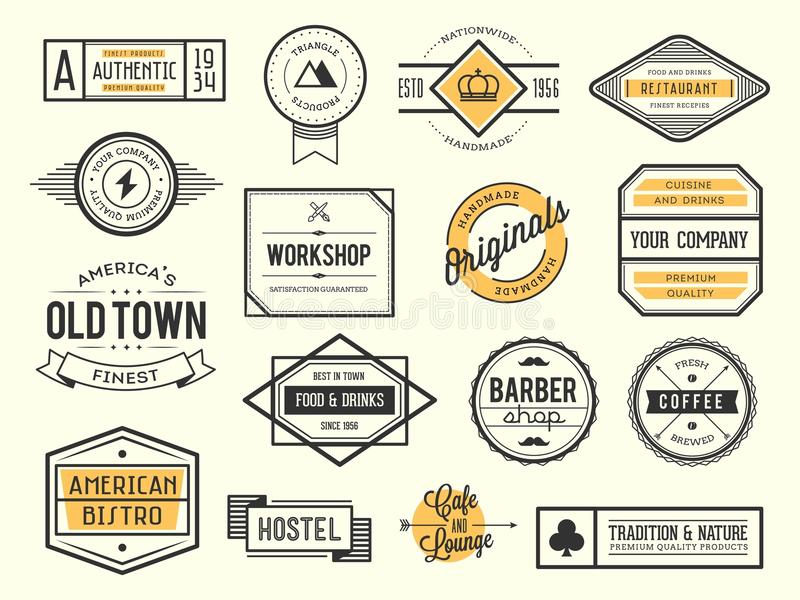 Set of vintage logos, badges and labels royalty free stock images