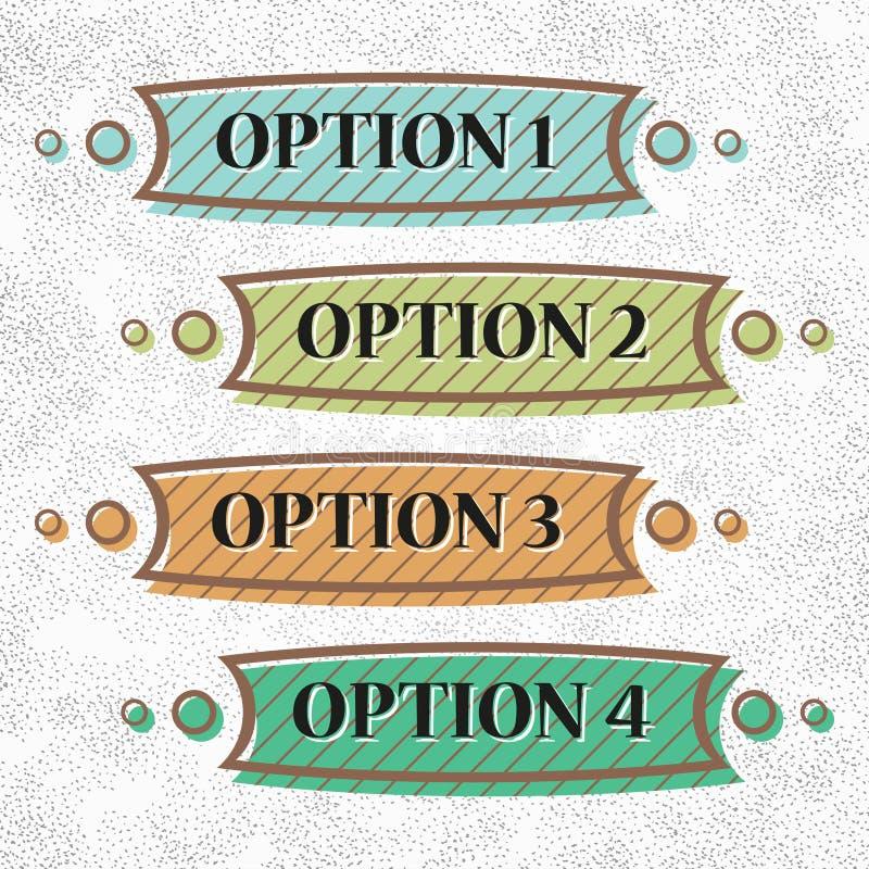 Set of vintage options
