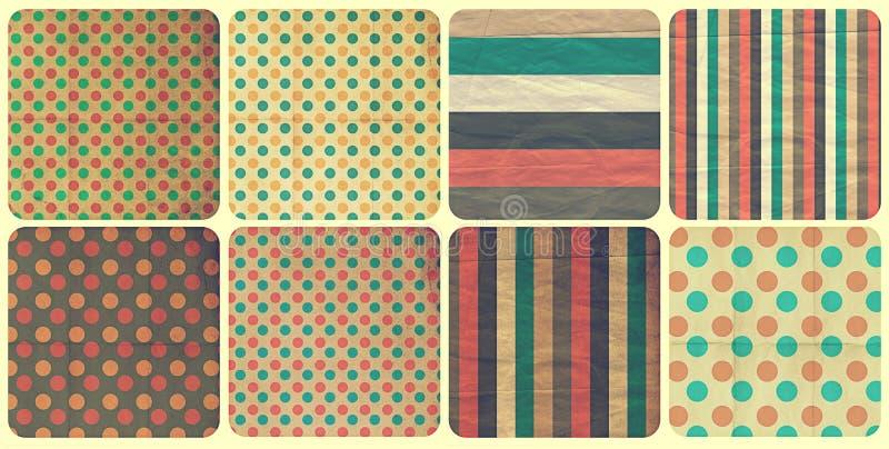 Download Set with vintage pattern stock illustration. Image of background - 23832103