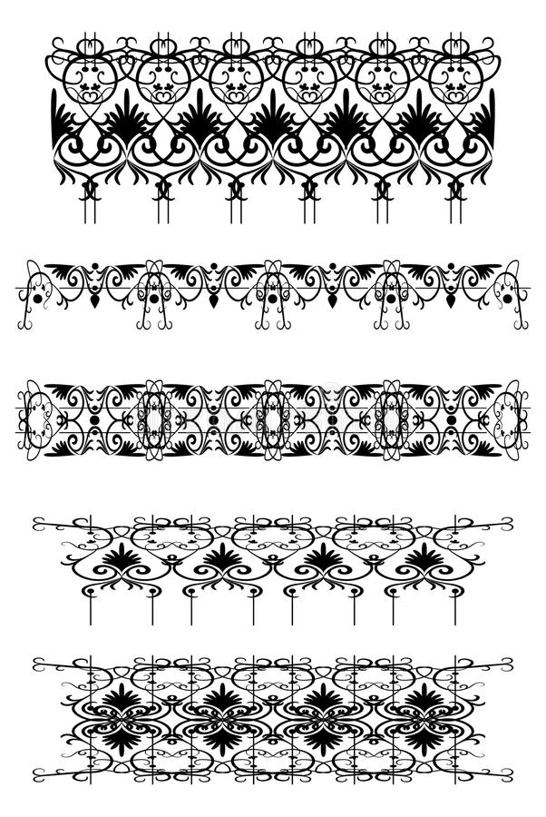 Set of vintage patterns stock illustration
