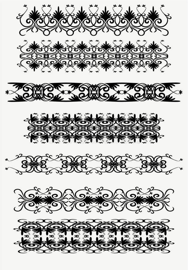 Set of vintage patterns vector illustration