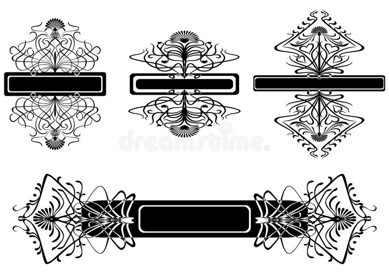 Set of vintage patterns royalty free illustration