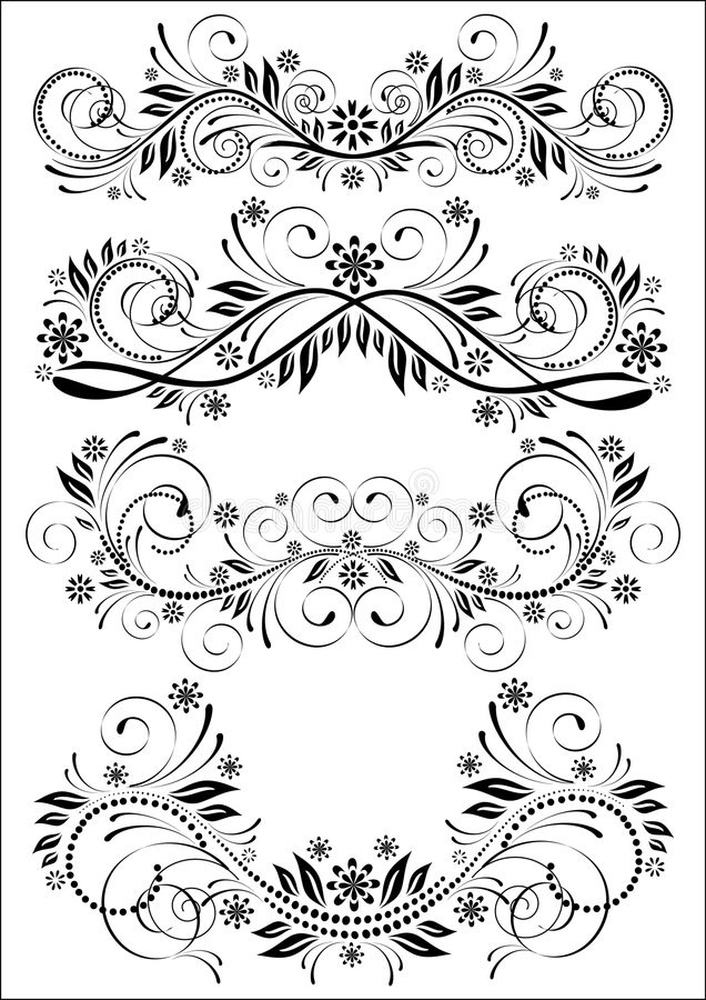 Set of vintage patterns stock photography