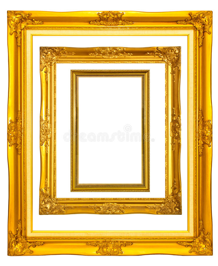 Set of vintage photo frame royalty free stock photography