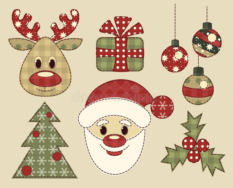 Download Set Of Vintage Pictures For Christmas Stock Vector - Image: 27871270
